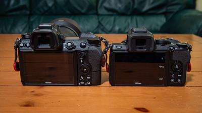Z7 on left, Z50 on right