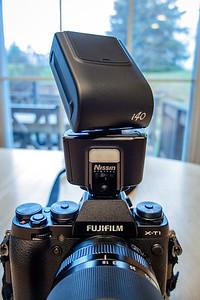 Nissin i40 Flash on the Fuji X-T1
