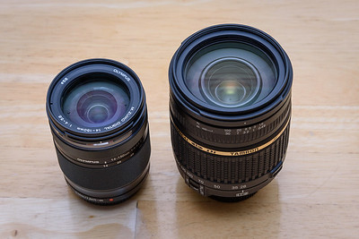 Olympus 14-150mm II compared to full frame 28-300mm Tamron