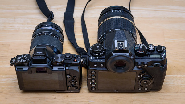 Olympus E-M5 & 14-150mm II compared to full frame Nikon Df & 28-300mm Tamron
