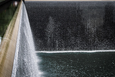 The waterfalls at the Sept 11, 2001 memorial