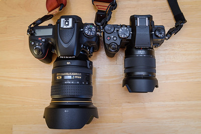 Nikon D750 & 24-120 f/4 compared to the G85 & 12-60 f/3.5-5.6