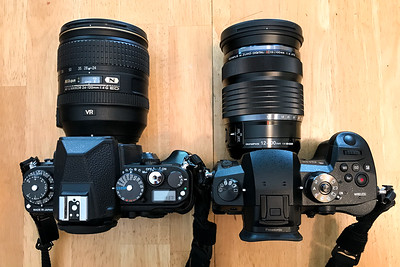 Nikon Df w/24-120mm f/4 and GH5 with 12-100mm f/4 (24-200mm equiv)