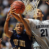 "Eric Gaines, left, of Kent State, battles with Andre Roberson of CU.<br /> For more photos of the game, go to  <a href=""http://www.dailycamera.com"">http://www.dailycamera.com</a>.<br /> Cliff Grassmick / March 22, 2011"