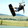 "Kermit Lohry, of Boulder, catches some air on his kite board at the Boulder Reservoir on Thursday, Aug. 18. For a video of what people were doing to dodge the heat go to  <a href=""http://www.dailycamera.com"">http://www.dailycamera.com</a><br /> Jeremy Papasso/ Camera"