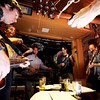 "Brian Stevens, of Boulder, left, John Ware, of Boulder, Phillip Randall, of Orlando, FL., Todd Zuercher, of Boulder, Bruce Edgerly, of Boulder, and Chris Chronopoulos, of Boulder, jam together during a bluegrass pick night on Thursday, Nov. 17, at Abo's Pizza on 13th Street in Boulder. For a video of the bluegrass pick night go to  <a href=""http://www.dailycamera.com"">http://www.dailycamera.com</a><br /> Jeremy Papasso/ Camera"
