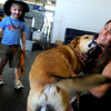 "Samantha Squires, of Boulder, and her son Darian, 4, are reunited with their long lost dog Buster Brown at Denver International Airport on Friday, June 3. The dog was found in California and flown back to Denver to be with it's owners. For a video of the reunion go to  <a href=""http://www.dailycamera.com"">http://www.dailycamera.com</a><br /> Jeremy Papasso/ Camera"