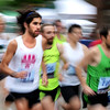 "Bobby Reyes, 26, of Boulder, left, sprints out of the start gate while racing in the men's competitive division run on Thursday, June 9, during the Uni-Hill 2K run in the University Hill area of Boulder. For more photos and video of the race go to  <a href=""http://www.dailycamera.com"">http://www.dailycamera.com</a><br /> Jeremy Papasso/ Camera"