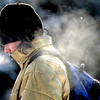 0201COLD.jpg Steam from his breath surrounds his head as Noah Koolik, (cq), freshman in international affairs, walks across the Norlin Quad on the way to class at the University of Colorado in Boulder, Colorado February 1, 2011.  CAMERA/Mark Leffingwell