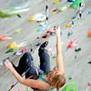 0323CLIMB2.jpg Emily Harrington climbs at Movement Climbing and fitness in Boulder, Colorado March 23, 2011.  CAMERA/Mark Leffingwell