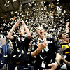 0124CUKU151.jpg Brian Weikmann (cq)(left), junior in finance, and J.P. Lefever (cq)(right) cheer and throw torn paper into the air at the start of the Colorado vs Kansas game at the University of Colorado in Boulder, Colorado January 24, 2011.  CAMERA/Mark Leffingwell