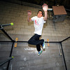 "APEX950.JPG Brandon Douglass launches himself to reach another bar during an intermediate level Parkour class at APEX Movement in Boulder on Monday June 13, 2011. Douglass is an instructor in training.<br /> Photo by Paul Aiken / The Camera<br /> For more photos and a video of the workout go to  <a href=""http://www.dailycamera.com"">http://www.dailycamera.com</a>"
