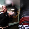 "MUYTHAI144.JPG Jamie Maples works on his backfist during a kickboxing class at itsera Family Fitness in Niwot on Thursday August 11, 2011.<br /> For more photos and a video from the class go to  <a href=""http://www.dailycamera.com"">http://www.dailycamera.com</a><br /> Photo by Paul Aiken  August 11, 2011."