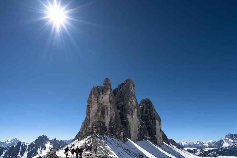 Tre Cime di Lavaredo (Mittle tower is 2.999 m)