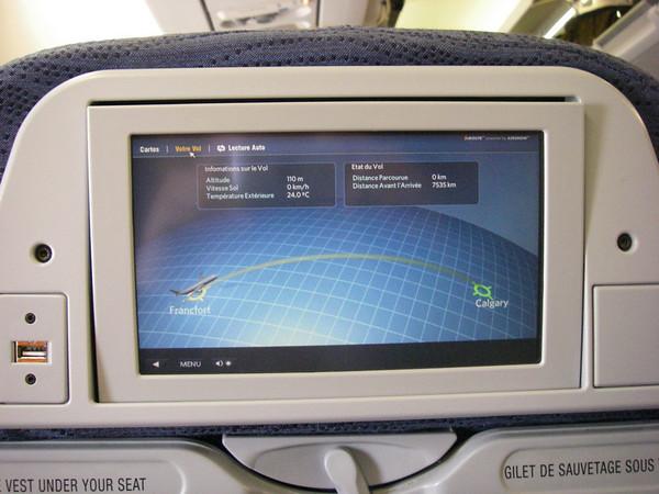 Le LOOOOOOOOOONG vol au dessus de l'atlantique, Francfort/Calgary