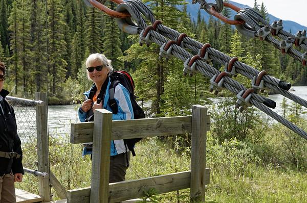 Nous démarrons Dog lake, par un pont suspendu, mais il ne bouge pas trop!