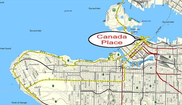 nous arrivons à Vancouver, et nous promenons un grand moment sur le waterfront, autour de Canada Place
