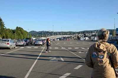 l'embarquement pour le ferry