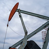 Low angle view of an oil rig, Cowboy Trail, Highway 22, Southern Alberta, Alberta, Canada
