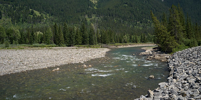 River flowing through forest, Kananaskis Country, Southern Alberta, Alberta, Canada