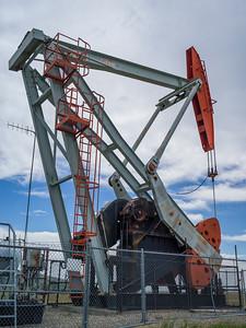 Oil rig, Cowboy Trail, Highway 22, Southern Alberta, Alberta, Canada