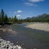 River flowing through landscape, Kananaskis Country, Southern Alberta, Alberta, Canada