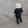 High angle view of a man standing, Calgary Stampede, Calgary, Alberta, Canada