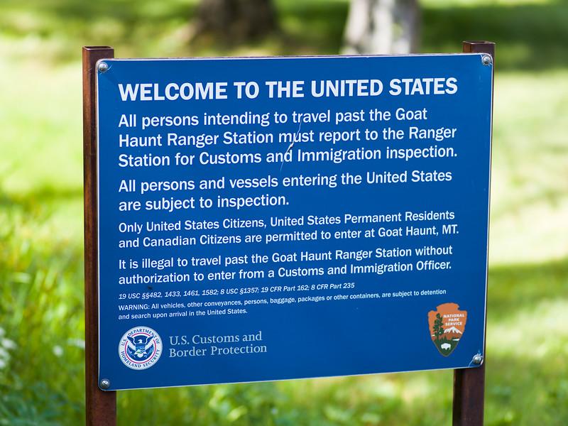 Close-up of signboard, Waterton-Glacier International Peace Park, Waterton Lakes National Park, Alberta, Canada