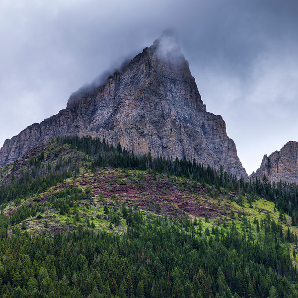 Scenic view of mountain peak, Red Rock Canyon Parkway, Waterton Lakes National Park, Alberta, Canada