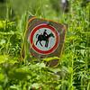 Equestrian Signboard,  Waterton Lakes National Park, Alberta, Canada