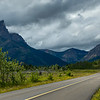 Road leading towards mountain, Red Rock Canyon Parkway, Waterton Lakes National Park, Alberta, Canada