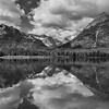 Lake with mountain range in the background, Waterton Lake, Waterton-Glacier International Peace Park, Waterton Lakes National Park, Alberta, Canada