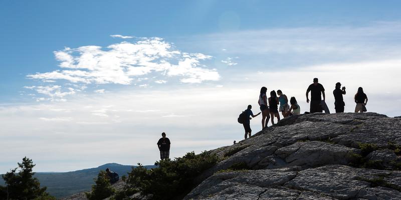 Hikers on Bears Hump Lookout, Waterton, Alberta, Canada