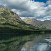 Lake with mountain range in the background, Waterton Lake, Waterton-Glacier International Peace Park, Waterton Lakes National Park, Alberta, Canada