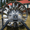 Close-up of Pelton wheel, Nelson, British Columbia, Canada
