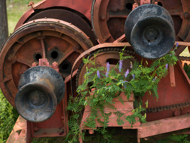 Details of rusty engine, British Columbia, Canada