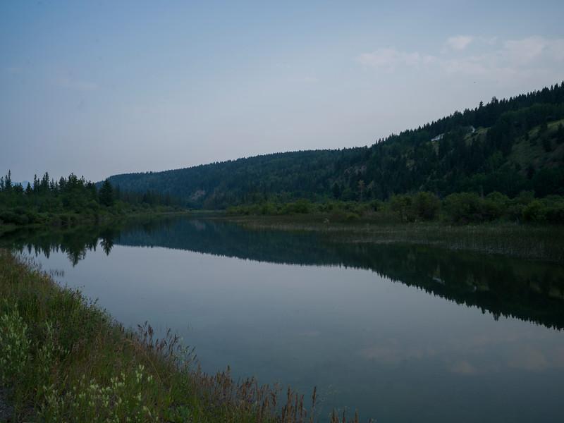 Scenic view of lake, Columbia Lake, Invermere, British Columbia, Canada