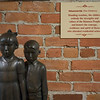 Sculpture of two school children in St. Eugene Golf Resort and Casinoformerresidential schoolconverted to aNative-owned casino, Cranbrook, British Columbia, Canada