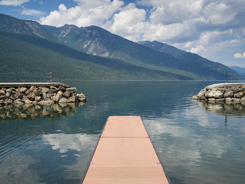 Pier over Kooteney Lake, Nelson, British Columbia, Canada