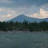 Lake with mountain range in the background, Kootenay Lake, British Columbia, Canada