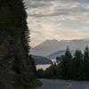 Curved road along Kooteney Lake, Kaslo, British Columbia, Canada
