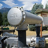 Close-up of pipes connected to water turbine, Nelson, British Columbia, Canada