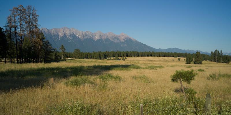 Scenic view of field, British Columbia, Canada