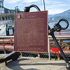 Close-up of a memorial plaque, SS Moyie sternwheeler, Kootenay Lake, Kaslo, British Columbia, Canada