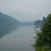 Scenic view of lake at dawn, British Columbia, Canada
