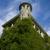 Low angle view of ivy covered building, Courthouse, Nelson, British Columbia, Canada