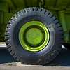 Close-up of tires of a truck, Sparwood, British Columbia, Canada