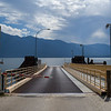 Pier on lake, Kootenay Lake, Sanca, British Columbia, Canada