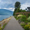 Pathway along lake, Kootenay Lake, New Denver, British Columbia, Canada