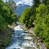 Stream flowing through forest, Nelson, British Columbia, Canada